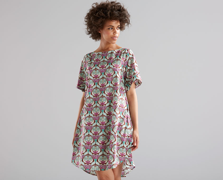 Cotton Dress with exclusive Print